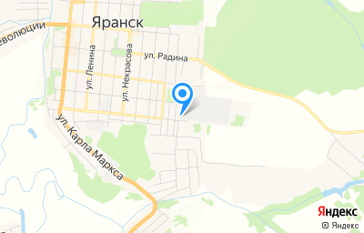 Местоположение на карте пункта техосмотра по адресу Кировская обл, г Яранск, ул Рудницкого, д 52