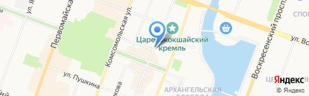 Общежитие на карте Йошкар-Олы