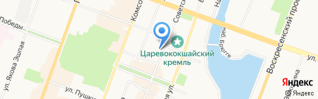 Акпарс на карте Йошкар-Олы