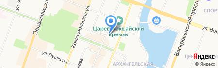 Новострой на карте Йошкар-Олы