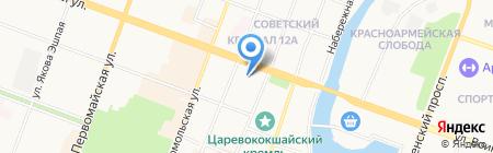 Госпиталь на карте Йошкар-Олы