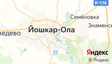 Гостиницы города Йошкар-Ола на карте