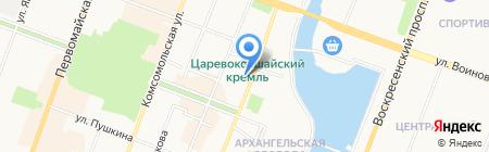 Детская художественная школа №1 на карте Йошкар-Олы