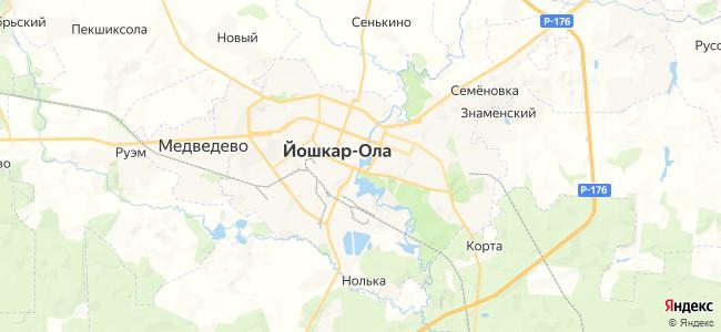 Гостиницы Йошкар-Олы - объекты на карте