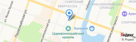 Вестфалика на карте Йошкар-Олы