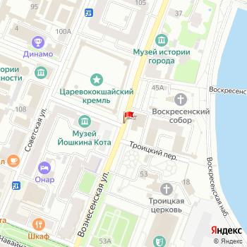 г. Йошкар-Ола, ул. Вознесенская, на карта