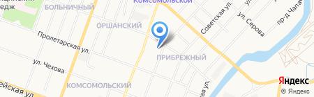 Кабинет массажа С.В. Знахарь на карте Йошкар-Олы
