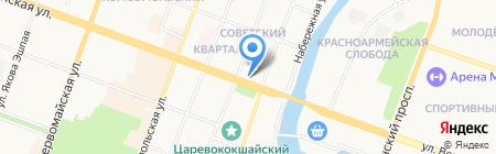 Техно-сервис на карте Йошкар-Олы
