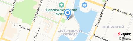 Академический русский театр драмы им. Г. Константинова на карте Йошкар-Олы