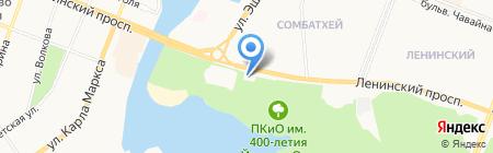 Зеленый мир на карте Йошкар-Олы