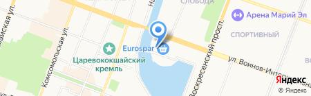 Банкомат АКБ МОСОБЛБАНК на карте Йошкар-Олы