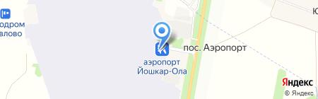 Аэропорт Йошкар-Ола на карте Большого Шаплака