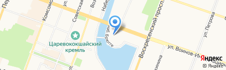 Сувениры на Патриаршей площади на карте Йошкар-Олы