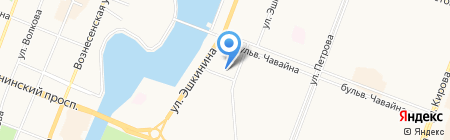 Лунтик на карте Йошкар-Олы