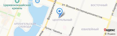 Киоск по продаже печатной продукции на карте Йошкар-Олы