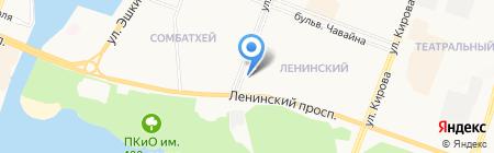 Аварийная лифтовая служба на карте Йошкар-Олы