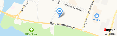 Виста на карте Йошкар-Олы