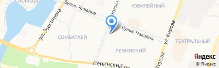 Копеечка на карте Йошкар-Олы