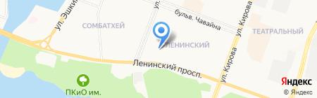 Одри на карте Йошкар-Олы