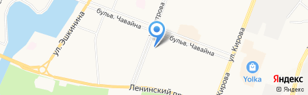 ОСТРОВ ДЕТСТВА на карте Йошкар-Олы