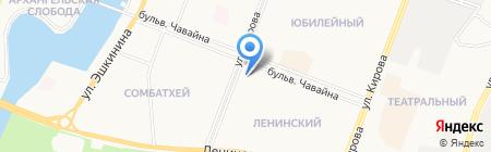Наш на карте Йошкар-Олы