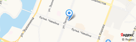 Золотая роза плюс на карте Йошкар-Олы