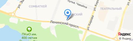 Тандем на карте Йошкар-Олы