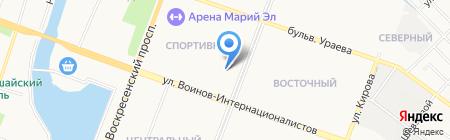 Вымпел на карте Йошкар-Олы