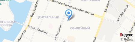 Школьник на карте Йошкар-Олы