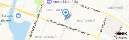 Карина на карте Йошкар-Олы