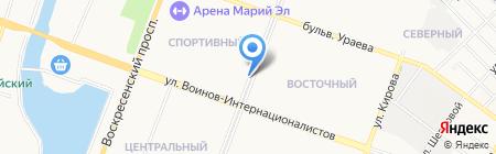 Доктор шин на карте Йошкар-Олы