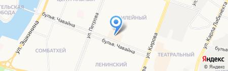 Магазин сумок и чулочно-носочных изделий на карте Йошкар-Олы