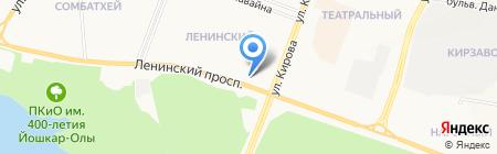 Сайвер на карте Йошкар-Олы