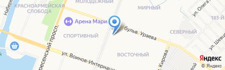 Вишенка на карте Йошкар-Олы