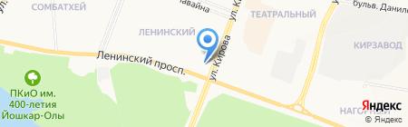 Веломаркет12.ру на карте Йошкар-Олы