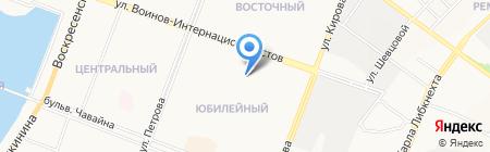 БВТ на карте Йошкар-Олы