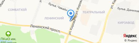 Локомотив на карте Йошкар-Олы
