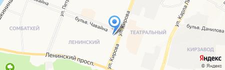 Библиотека №3 на карте Йошкар-Олы