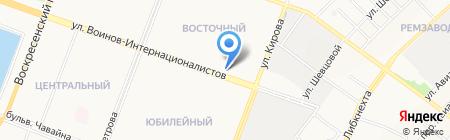 Восточный центр на карте Йошкар-Олы