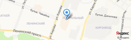Мужской Квартал на карте Йошкар-Олы