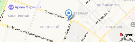 Мастерская по ремонту стиральных машин на карте Йошкар-Олы