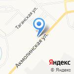 Грап на карте Астрахани