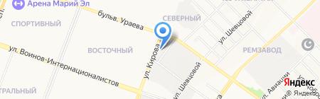 Пятёрочка на карте Йошкар-Олы