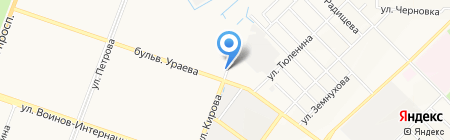 Запаска на карте Йошкар-Олы