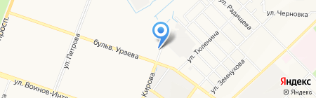Автостоянка на ул. Мира на карте Йошкар-Олы