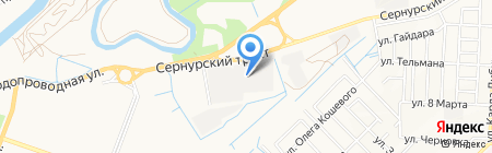 Сибирская баня на Сернурском тракте на карте Йошкар-Олы