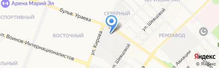 M-Bus на карте Йошкар-Олы