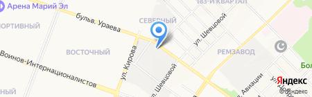 Фабрика Москва на карте Йошкар-Олы