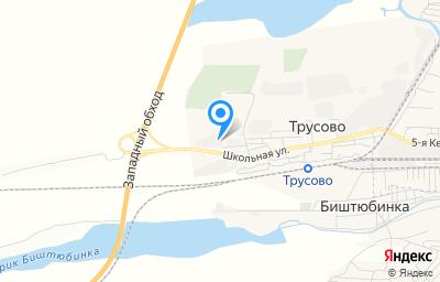 Местоположение на карте пункта техосмотра по адресу Астраханская обл, Наримановский р-н, п Трусово, ул Школьная, д 50
