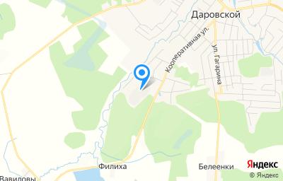 Местоположение на карте пункта техосмотра по адресу Кировская обл, пгт Даровской, ул Кооперативная, д 63